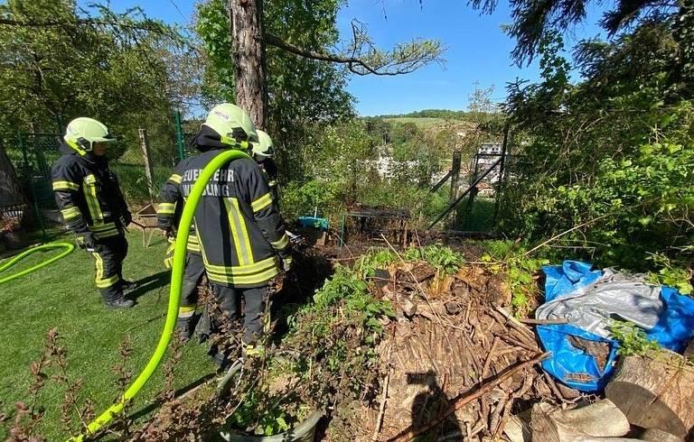 Komposthaufen in Brand
